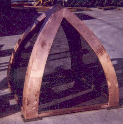 Bell Curved Copper Chimney Hood