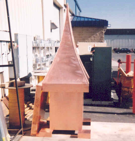 Copper Chimney Hood and Spire