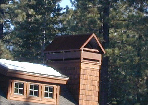Standing Seam Chimney Hood with Belly Bands