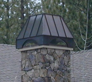Standing Seam Copper Chimney Hood image 2
