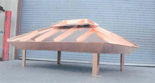 Standing Seam Copper Chimney Hood
