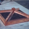 Copper Chimney Chase Hood with Steel Mesh