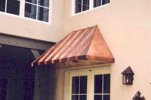 Copper Standing Seam Bay Window Hood