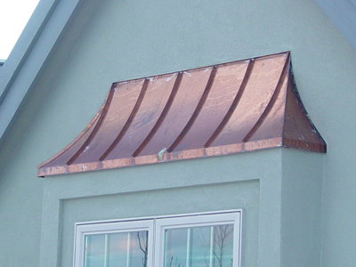 Swept Copper Standing Seam Bay WIndow Hood image 2