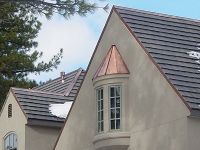 Swept Copper Standing Seam Bay WIndow Hood image 3