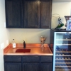 Grained Copper Bar top with Welded-in Sink