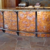 Pounded and Flamed Copper bar Facing