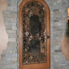Patina Pounded Steel and Grape Leaf Door Insert