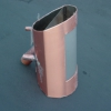Stainless Steel with Copper Exterior Light Fixture Side View