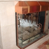 Copper Stainless Steel and Glass Fireplace Doors