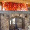 Flamed and Pounded Fireplace Surround with Forged Steel Mantle