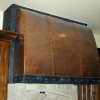 Pounded Copper and Steel Kitchen Hood