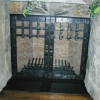 Forged Steel and Copper Rivet Fireplace Doors Image 1