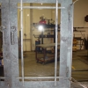 Pounded Steel Fireplace Doors with Glass