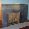 Smooth Hot Rolled Steel Fireplace Surround