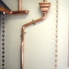 Euro-Style Seamless Copper Downspout and Rain Chains