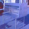 Commercial Stainless Steel Table with Exhaust Flue Side View