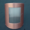 Stainless Steel with Copper Exterior Light Fixture