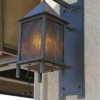 Steel with Wire Mesh and Vellum Exterior Light Fixture Image 1