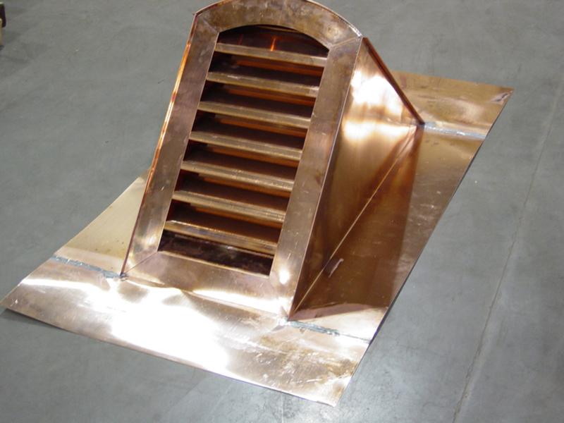 Copper Radius Dormer Vent