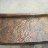 Pounded and Flamed Radius Copper Bar
