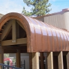 Radius Standing Seam Copper Roof