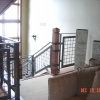 Scaled Steel and Wire Mesh Pitched Guardrail