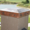 Smooth Copper Fence Post