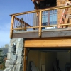 Steel Pickets Inlayed in Wood Deck Railing Image 1