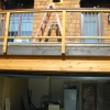 Steel Pickets Inlayed in Wood Deck Railing Image 2