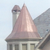 Large Standing Seam Copper Spire