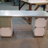 Custom Stainless Steel Desk with Drawers