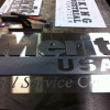 Stainless Steel and Hot Rolled Sign with Stand-off Letters Image 2