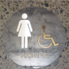 Women Stainless Steel and Hot Rolled Steel Sign